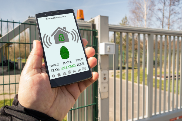 gate automation controlled by phone app