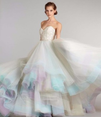 Non-traditional wedding gowns in every color of the rainbow!
