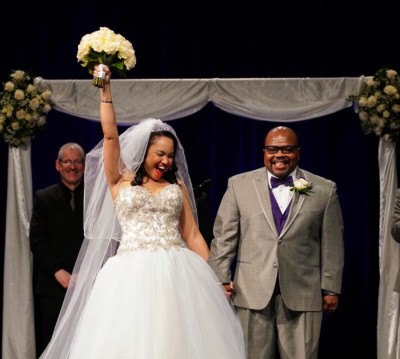 Faith, hope, love: Angela and Anthony's April Wedding