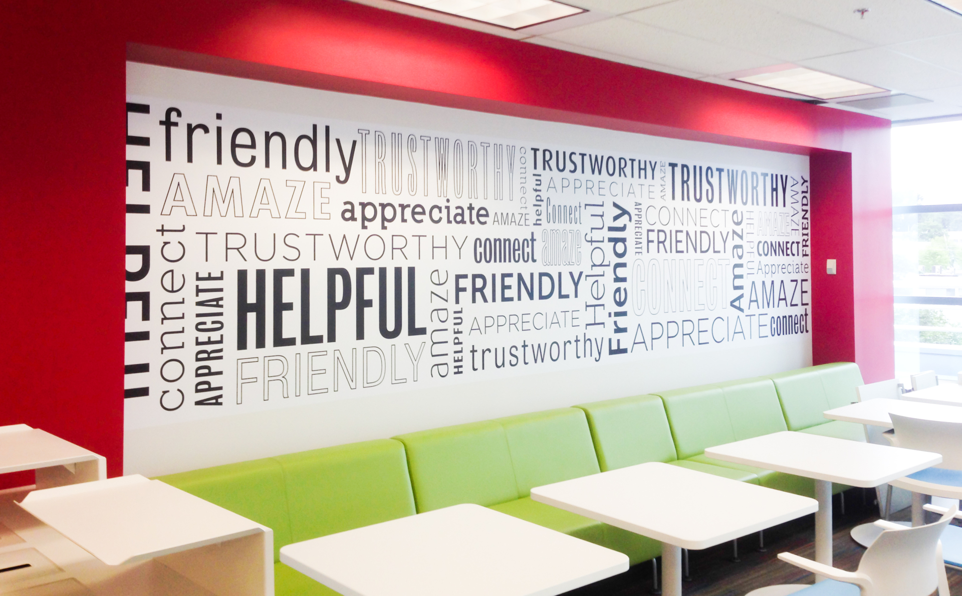 BCAA wall graphics