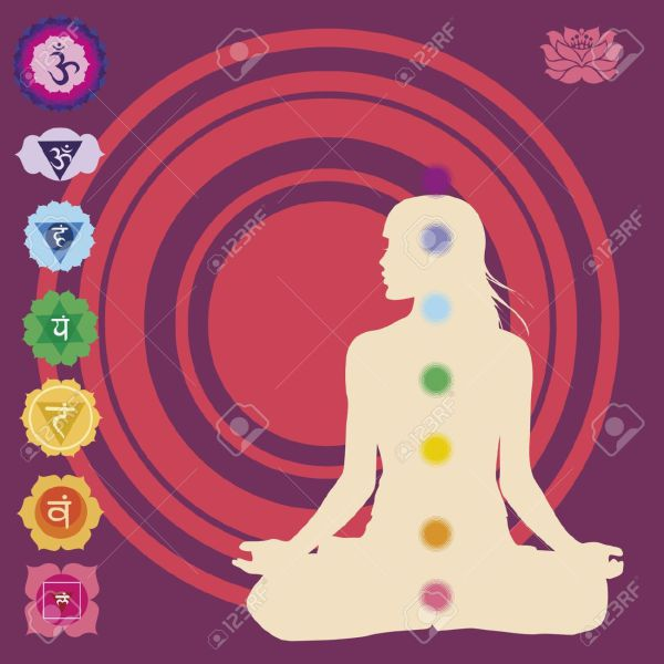 18876267-Seven-chakras-for-yoga-Stock-Vector-chakra-reiki-spiritual