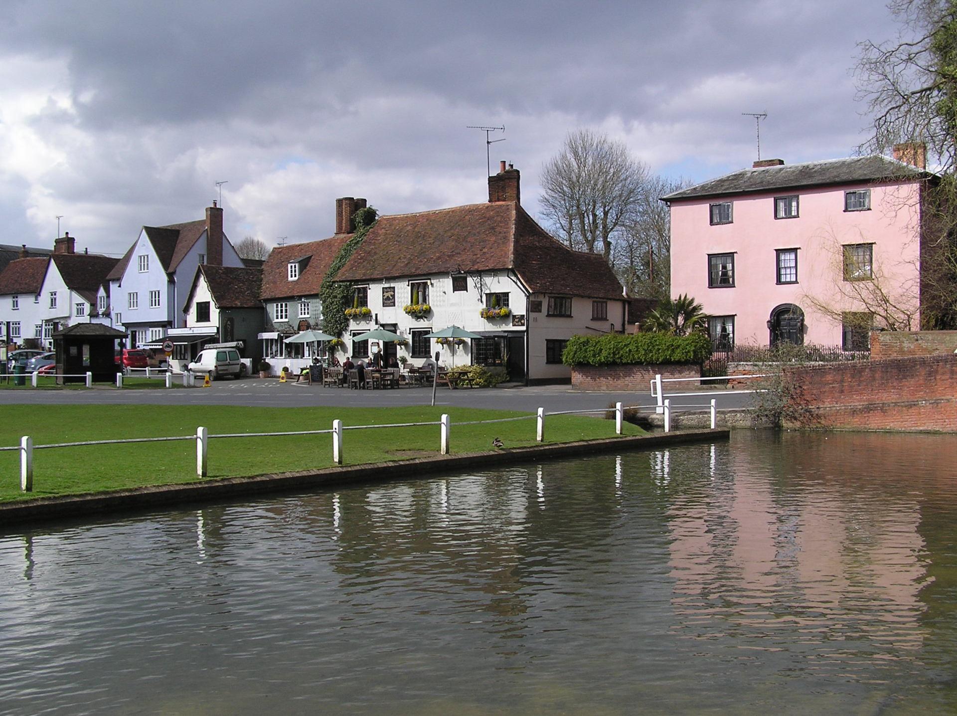 The fox Inn Finchingfield Duck Pond