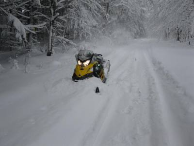 snowmobile in snow