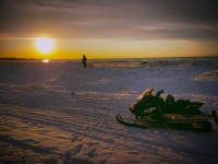Snowmobile At lake Ontario