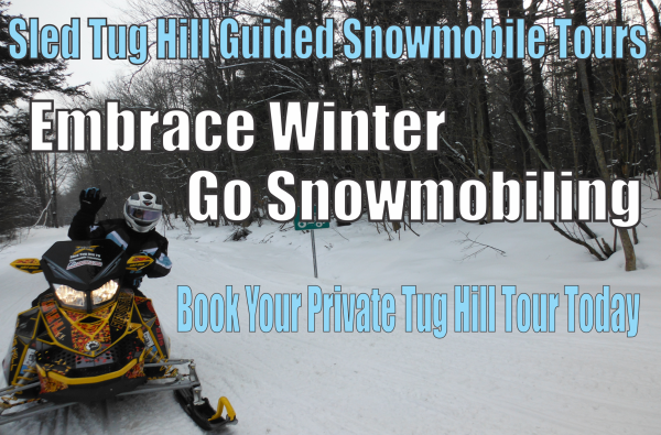 snowmobile tours and Snowmobile rental banner
