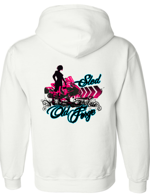 Sled old forge ladies hoodie