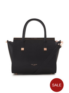 Ted Baker Crosshatch Leather Grab Bag