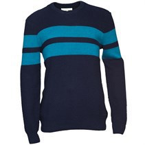 adidas Neo Mens Striped Knitted Sweater Navy/Blue