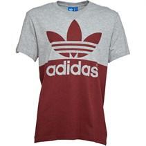adidas Originals Mens Color Blocked Graphic T-Shirt Medium Grey Heather