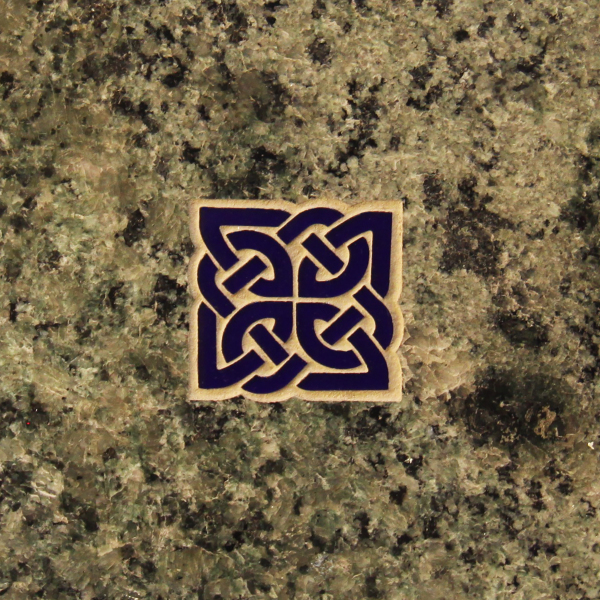 Permanent Color for Slant Monuments, Celtic Knot in color,  memorials, headstones