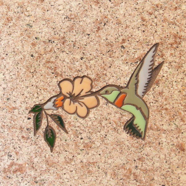 Permanent Color Hummingbird Inlays