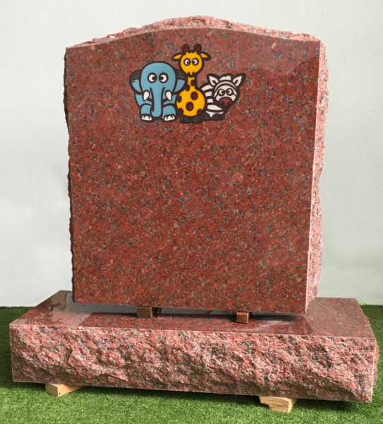 Permanent Colored Designes,  Upright Monument, Headstone, Gorgeous art , Colorfull Childrens Headstones