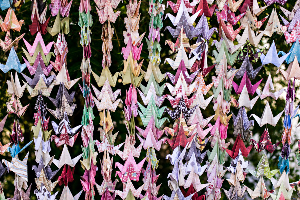 An Origami Paper Crane Backdrop