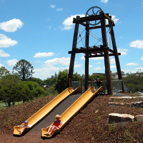 Queens Park Playground - Mine Shaft Poppet Head