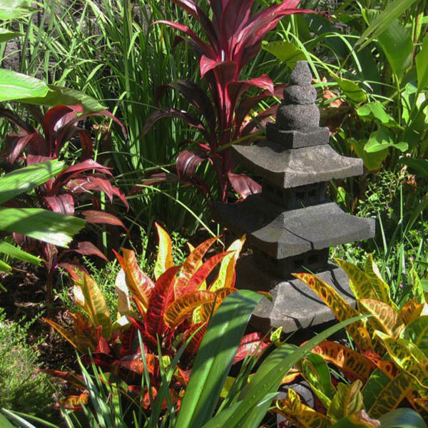 Balinese Pagoda feature in a tropical garden setting