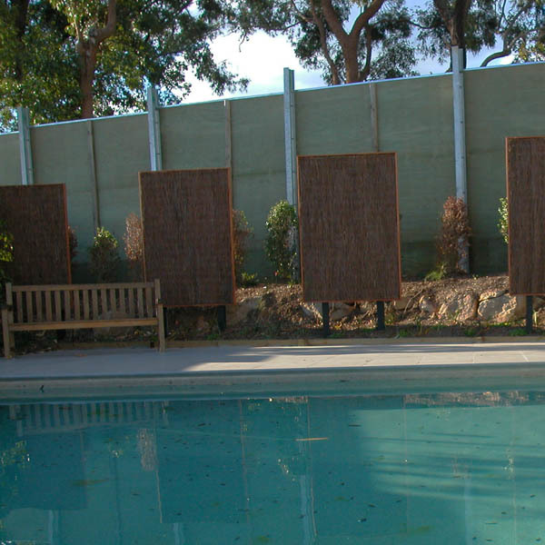 Pool side decorative screens