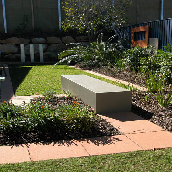 Feature lawn in a small garden