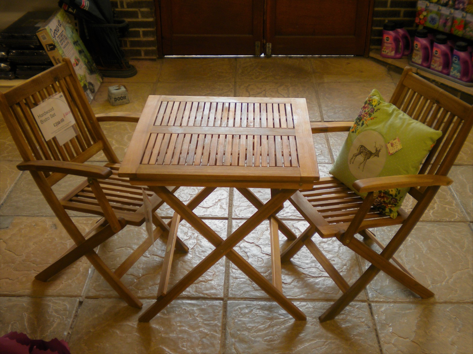 Hardwood Bistro Set - 20% off now only £160