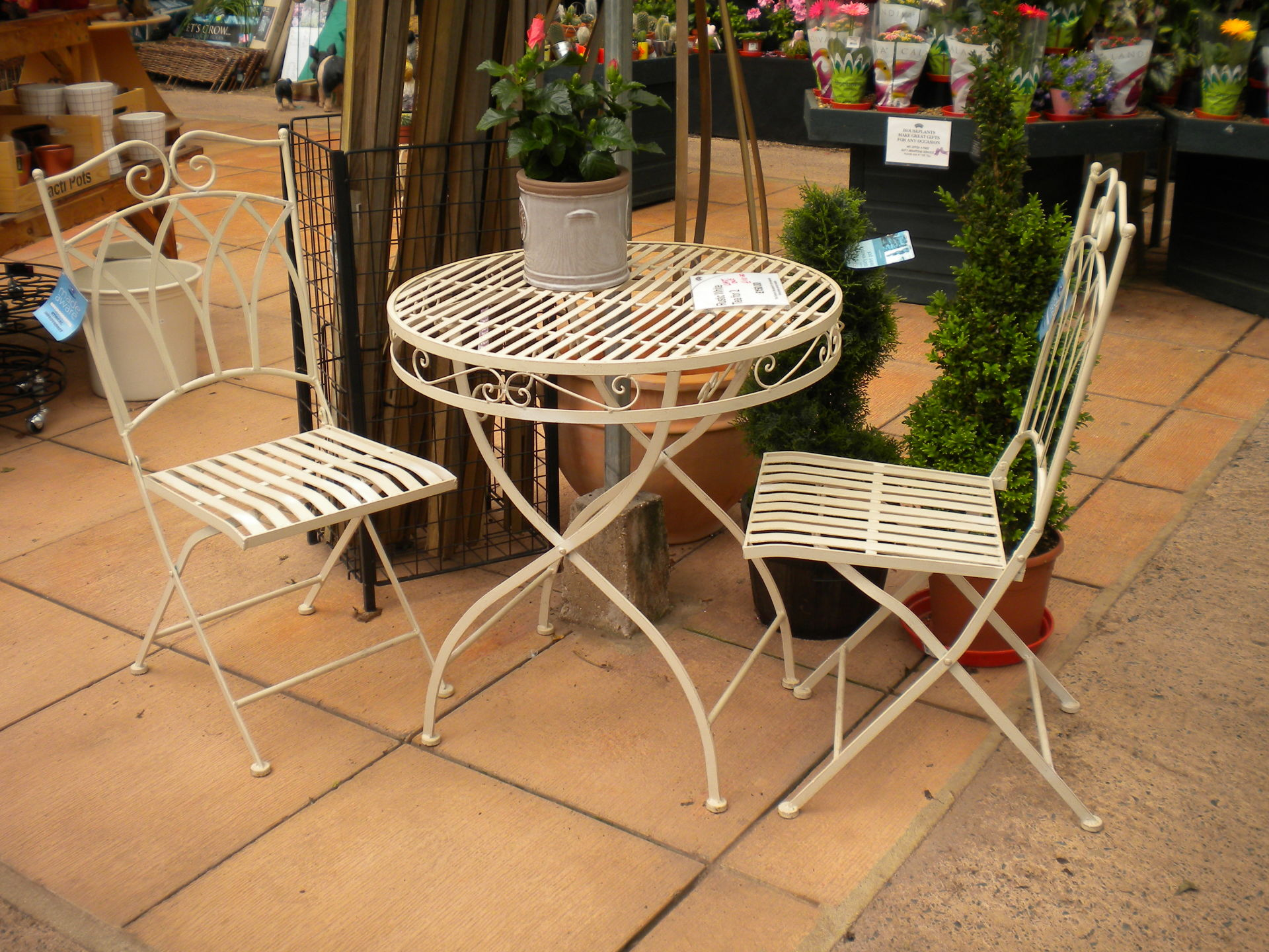 Rustic White Bistro Set - LAST ONE - WAS £150 - NOW £110