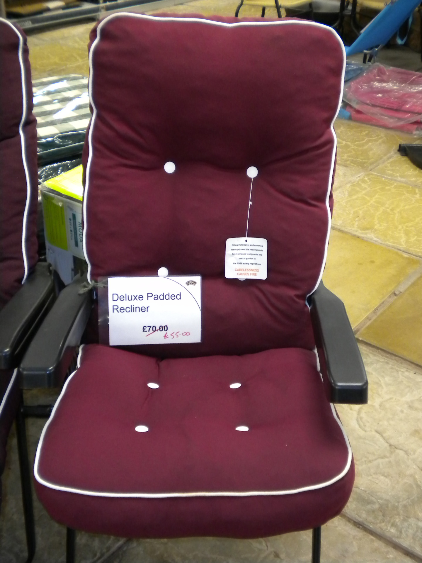 Deluxe padded recliners and relaxers - great discounts