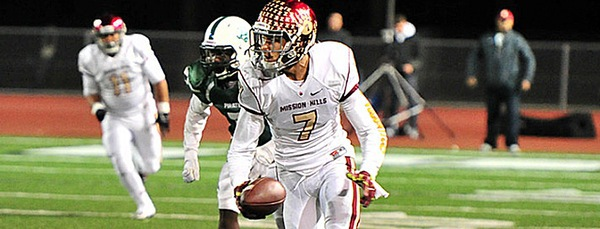 Mission Hills High School CB/WR/FS Troy Warner