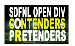 SDFNL Open Division Contenders or Pretenders?