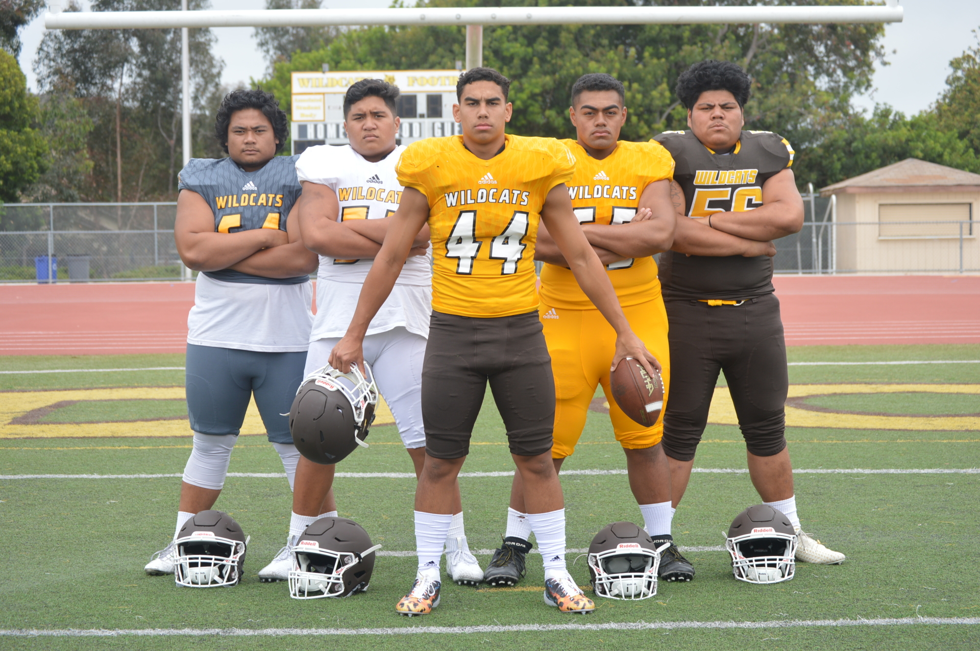 El Camino - LB Jacob Sega with teammates