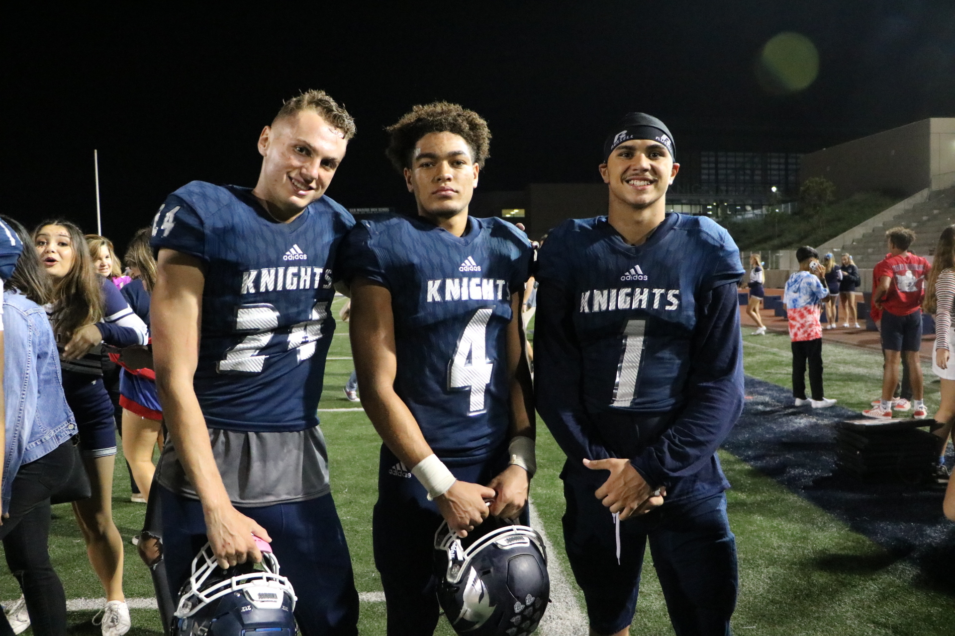 Jalen Bainer's key interception Aaron Norita's 3 yard run paces San Marcos in big win