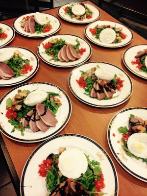 Appetizer: Smoked Duck and Arugula Salad