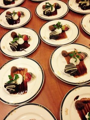 Dessert: Heart-shaped Chocolate Truffle