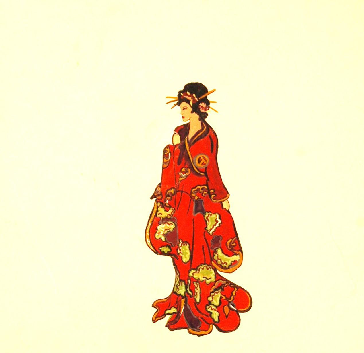 Asian Influenced Fashion Figure