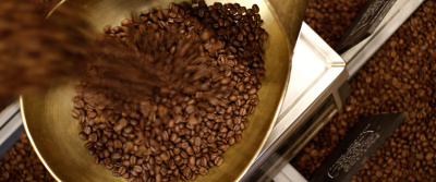 Freshly roasted Monmouth Coffee.