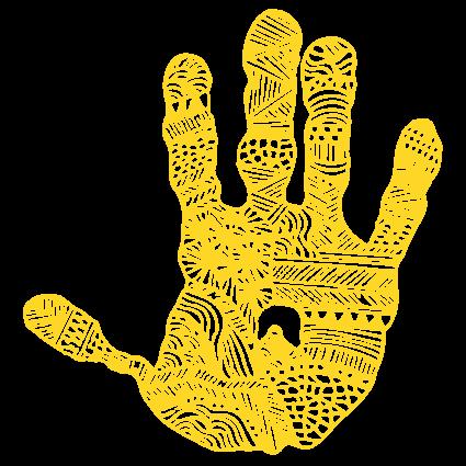 Maphu's hand