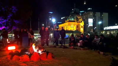 Day 106 - Campfire in the City