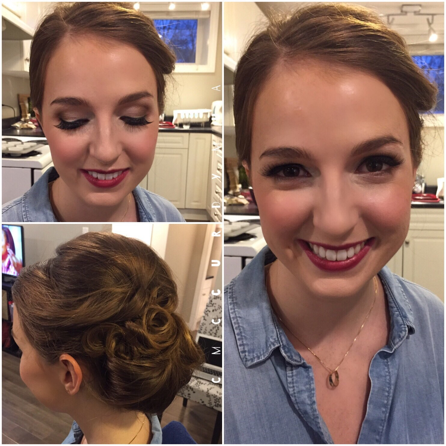 Holiday Party Hair & Makeup