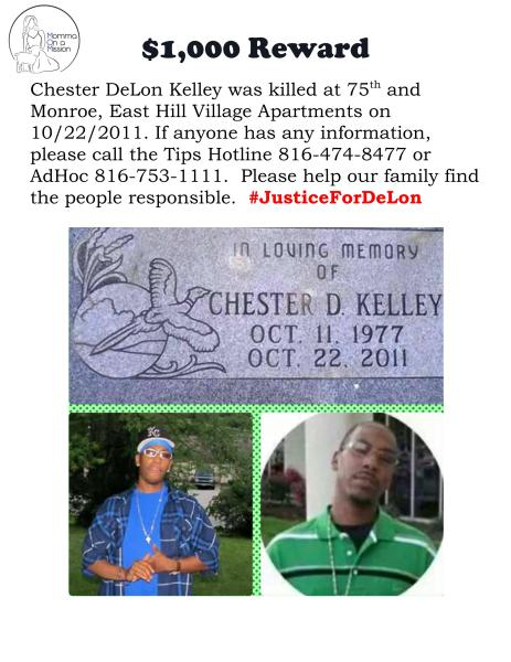 Chester DeLon Kelley Reward Flyer