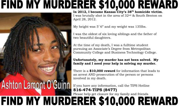Ashton O'Guinn - $10,000 Reward Flyer