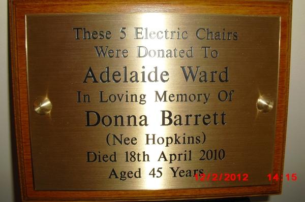 Donna-Plaque