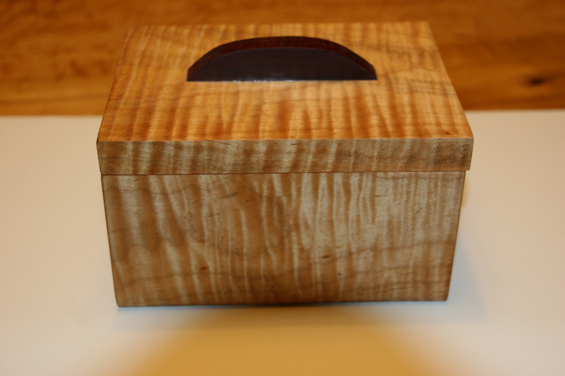 Tiger or Flame Maple and Purple Heart Box