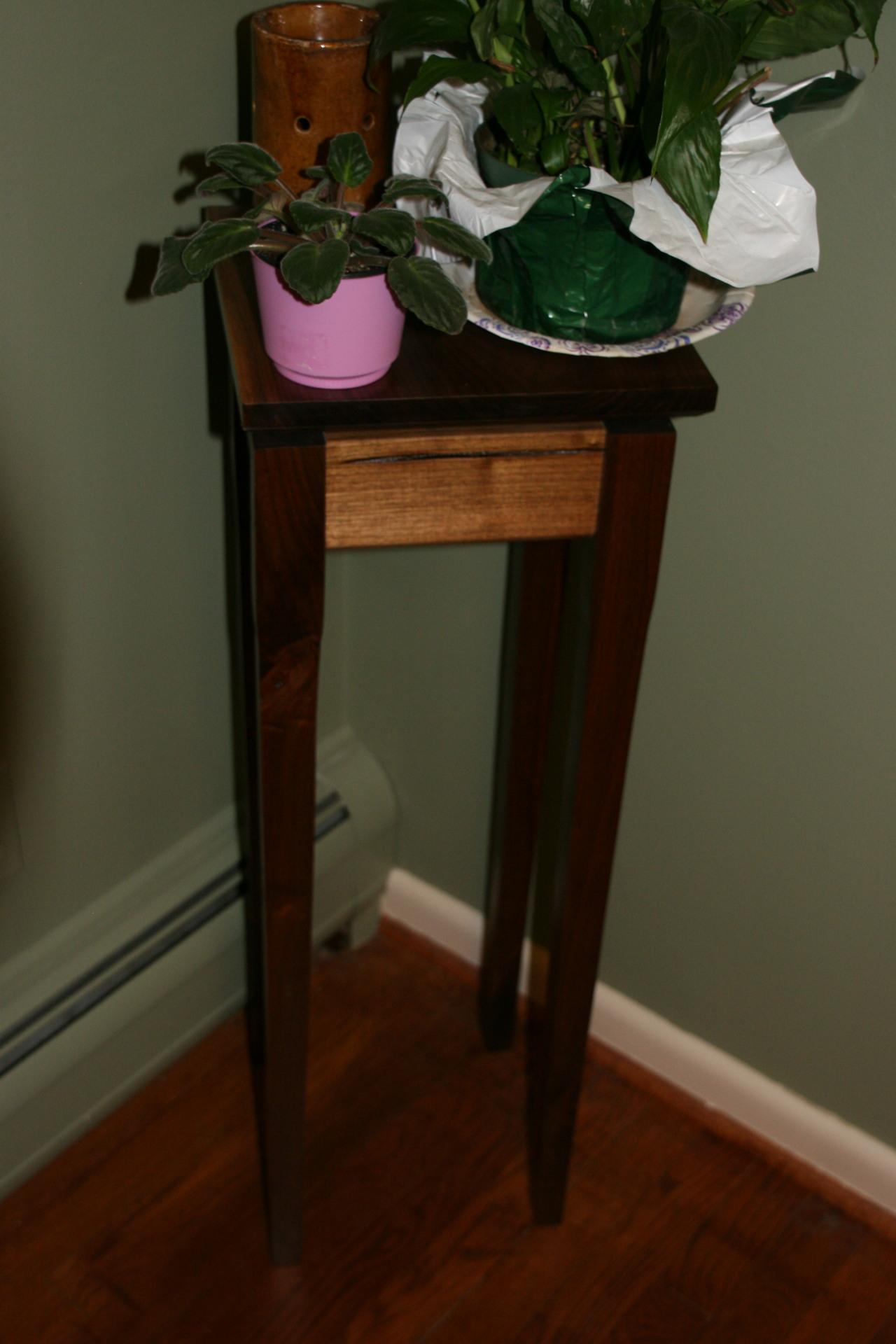 Walnut Plant Stand