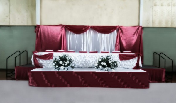 Stage for a Quinceañera