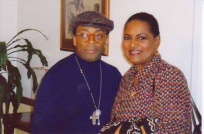 Spike Lee & Pam at Community of St. Sabina