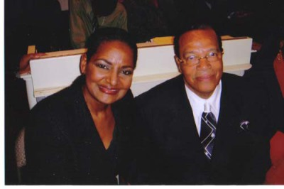 Pam & Minister Louis Farrakhan