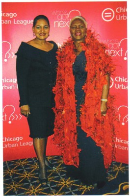 Pam and Dr. Gloria Jackson Bacon at Chicago Urban League Gala