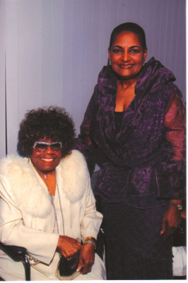 Queen Albertina Walker and Pam