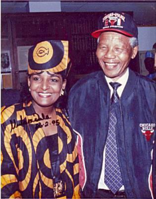 Pam and President Nelson Mandela