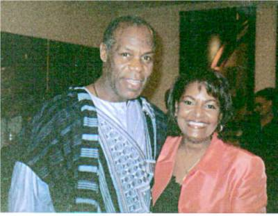 Pam and Danny Glover
