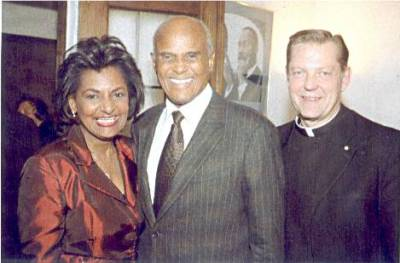 Pam, Harry Belafonte and Rev. Michael Pfleger