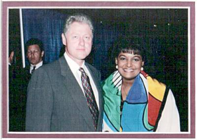 Pam and President William Jefferson Clinton