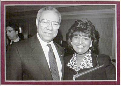 Pam and Colin Powell